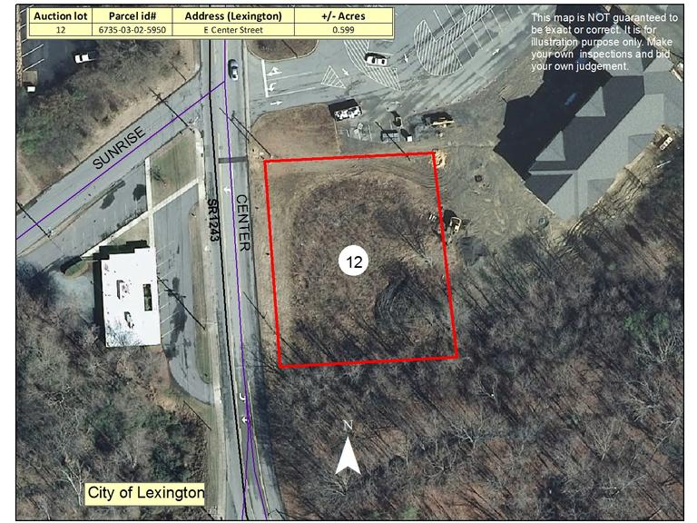 .67 +/- Acre Commercial Lot Located on East Center Street, Lexington, NC