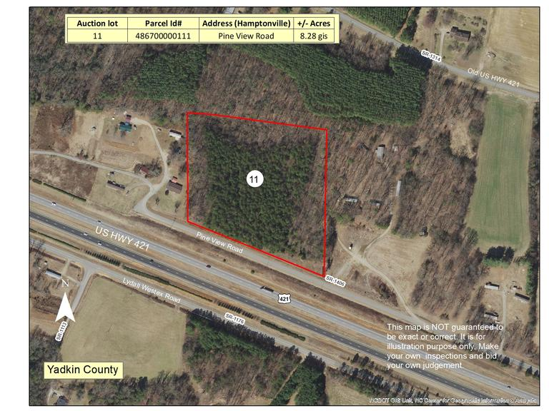 7.54 +/- Acres Located on Pine View Rd, Yadkin County, NC