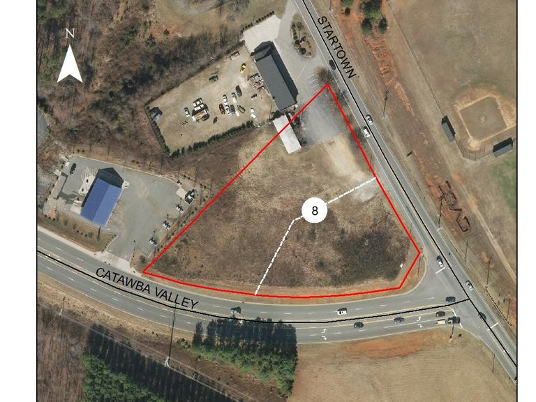1.95 +/- Acre Commercial Lot Located at Catawba Valley Blvd and Startown Rd. in Hickory, NC