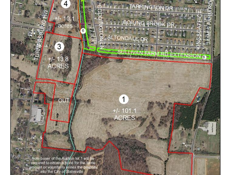 101.1+/- Acres Tract Located along James Farm Road, Statesville, NC