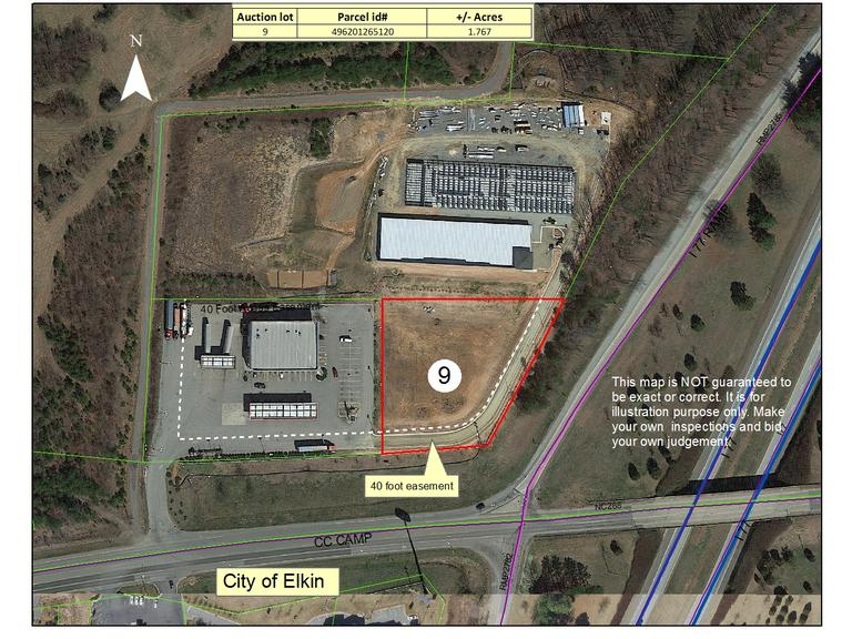 1.77 +/- Acre Commercial Lot Located at Exit 85 on I-77 & CC Camp Rd (NC HWY 268 Bypass), Elkin, NC