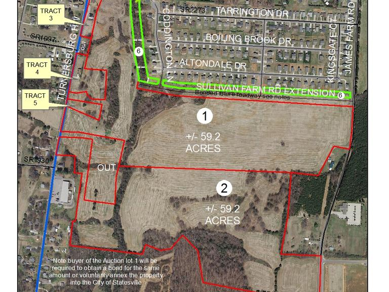 4.96 +/- Acres of Common Areas For Olde Statesville Subdivision Located along James Farm Rd., Statesville, NC