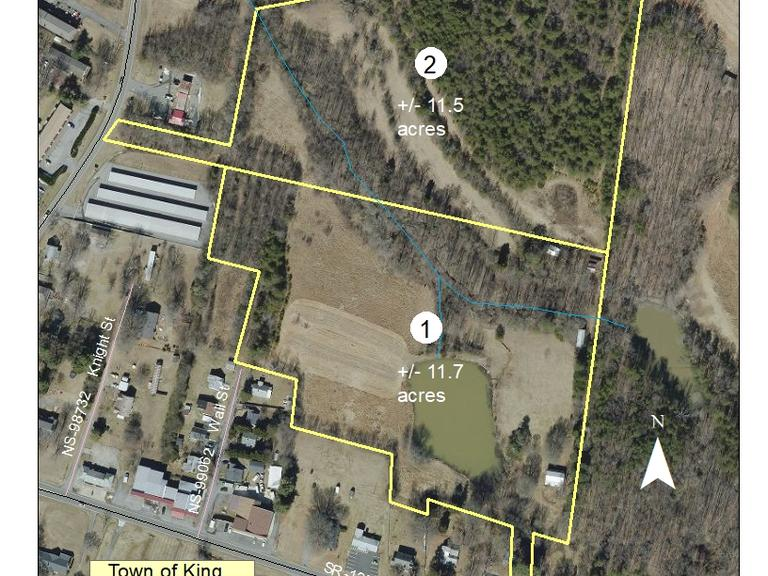 11.5+/- Acres located on N. Main Street in King, NC