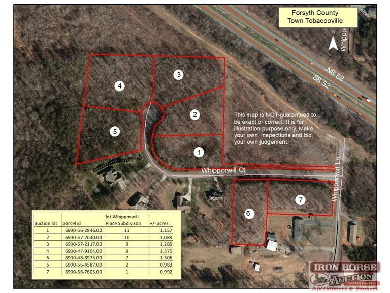 1.285+/- Acre Vacant Lot on Whipporwill Court in Tobaccoville, NC