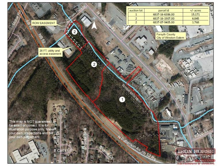 15.71+/- Acres Zoned GI on Patterson Avenue in Winston-Salem, NC