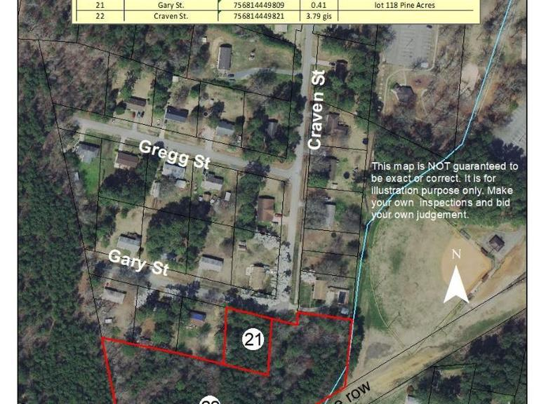 3.79+/- Acres on Craven Street in Biscoe, NC