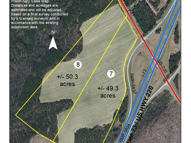 50.3+/- Acres on U.S. Highway 220 Alternate South in Candor, NC