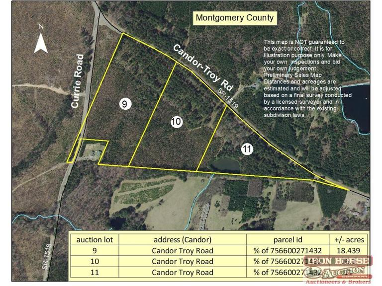 11+/- Acres on Candor-Troy Road in Candor, NC