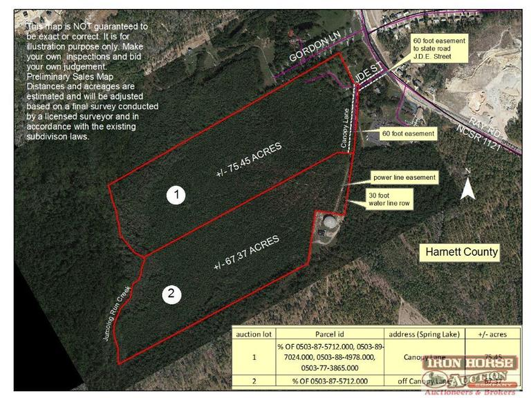 67.37+/- Acres off Canopy Lane in Spring Lake, NC