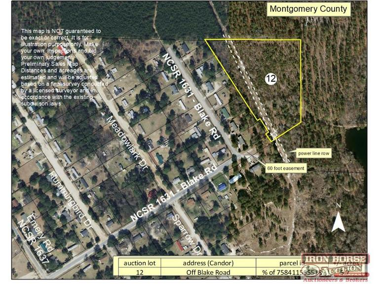 5.7+/- Acres off Blake Road in Candor, NC