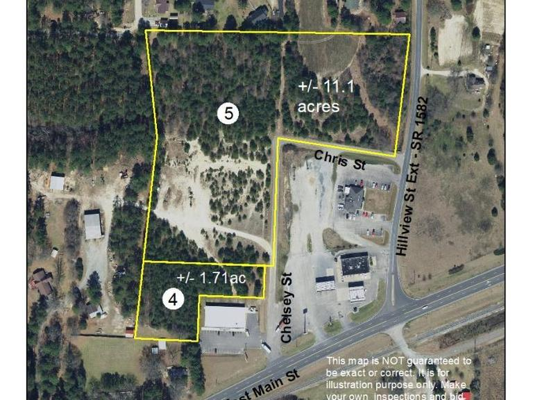 11.1+/- Acres Located on Hillsview Street Extension in Candor, NC