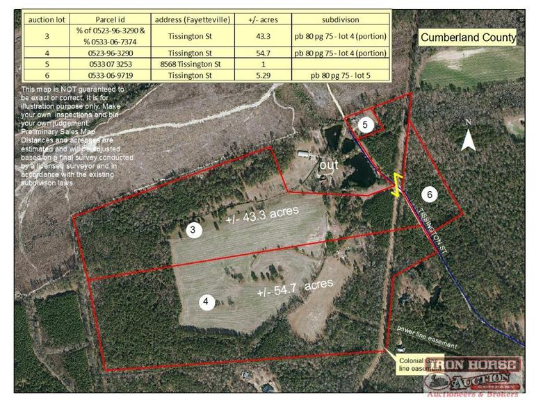 54.7+/- Acres on Tissington Street in Fayetteville, NC
