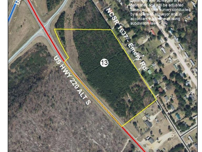 13.1+/- Acres on Emery Road/U.S. Highway 220 Alt South in Candor, NC