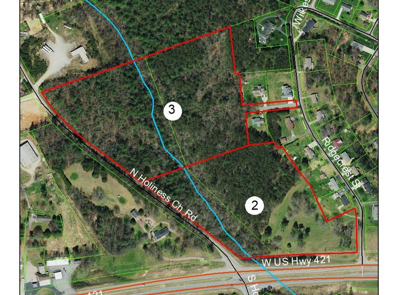 15 +/- Acres with frontage on US 421 and Ridgecrest Rd., Wilkesboro, NC