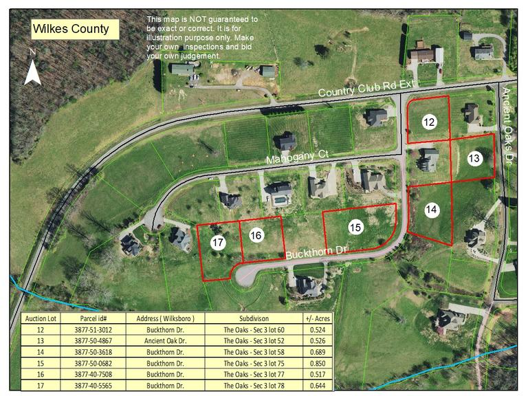 Residential Lot on Ancient Oak Drive in Wilkes County