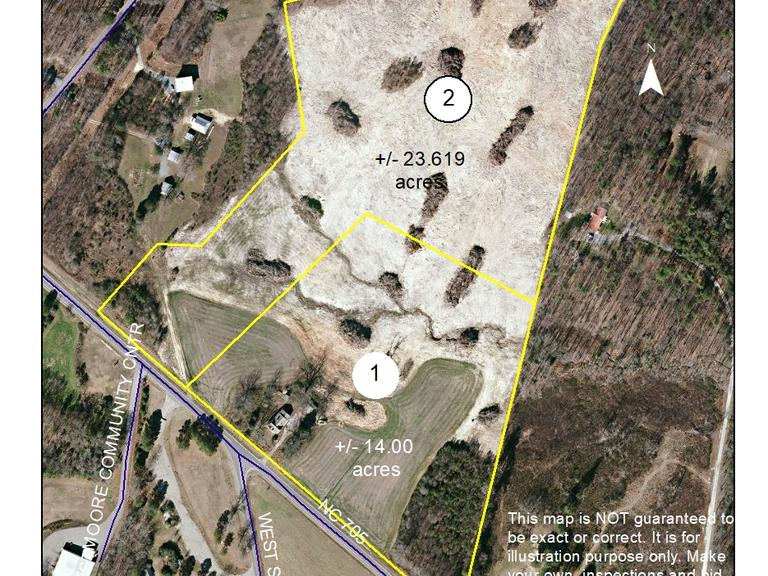 14+/- Acres on Highway 705 in Moore County, NC