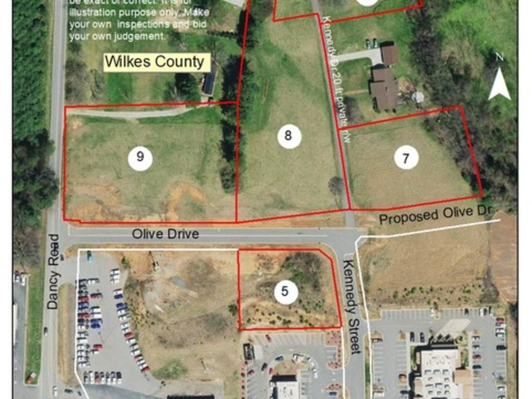 Commercial Lot located on Kennedy Street and Olive Drive in Wilkes County