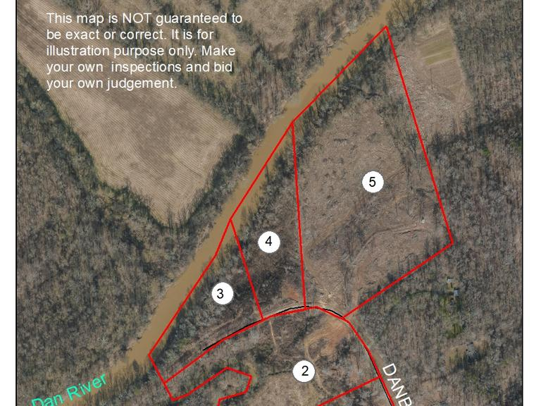 5.10+/- Acres Fronting the Dan River on Danbury Bridge Road in Madison, NC