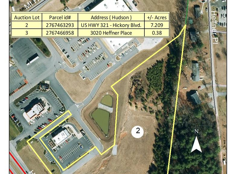 7.209+/- Commercial Acres located off Hickory Blvd. in Hudson, NC